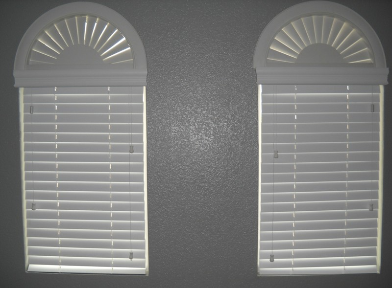 Vinyl Arched Window : Arched blinds for windows design decoration